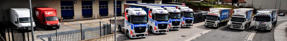 flota de camiones de transporte de mercancias de LGK